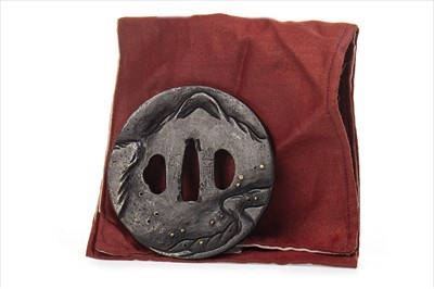 Lot 1010A-19TH CENTURY JAPANESE BRONZE TSUBA