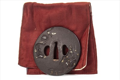 Lot 1005A-LATE 19TH CENTURY JAPANESE BRONZE TSUBA