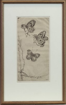 Lot 35-THE CHASE, AN ETCHING BY KATE CAMERON