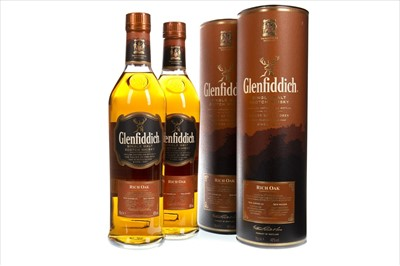 Lot 325-TWO BOTTLES OF GLENFIDDICH RICH OAK AGED 14 YEARS