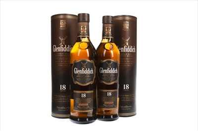 Lot 329-TWO BOTTLES OF GLENFIDDICH 18 YEARS OLD
