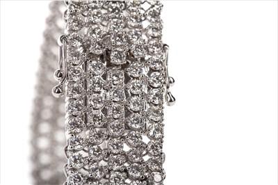 Lot 315-A DIAMOND FIVE ROW BRACELET