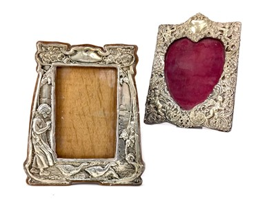 Lot 419-AN ART NOUVEAU SILVER PHOTOGRAPH FRAME AND ANOTHER