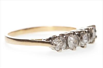 Lot 316-A DIAMOND FIVE STONE RING