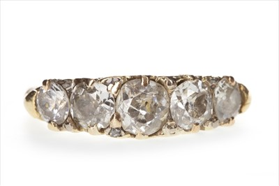 Lot 317-A DIAMOND FIVE STONE RING