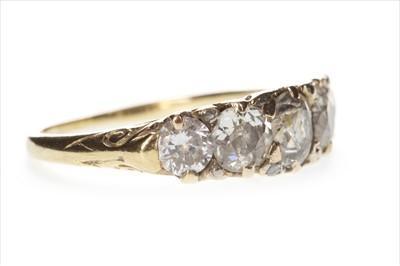 Lot 317-A DIAMOND FIVE STONE RING