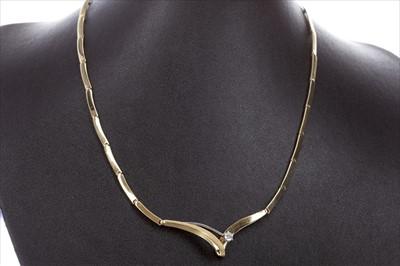 Lot 319-A DIAMOND SET NECKLET