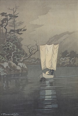 Lot 414-A PAIR OF RIVER SCENES IN WATERCOLOUR