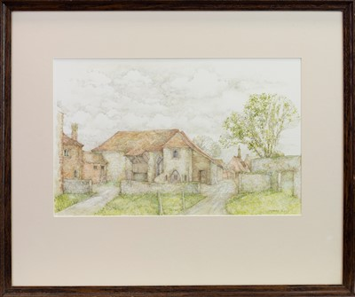 Lot 418 - OLD FARM HOUSE, KENT, A WATERCOLOUR BY ANNA DUDLEY NEILL