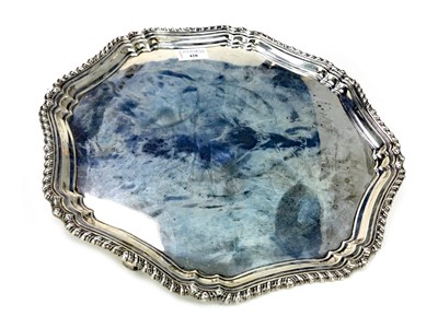 Lot 420-AN EARLY 20TH CENTURY SILVER SALVER