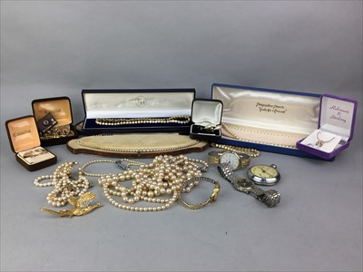 Lot 20A-A LOT OF GOLD AND COSTUME JEWELLERY