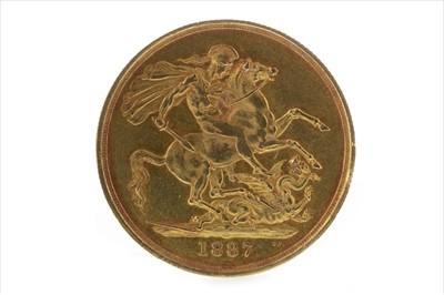 Lot 26-A GOLD £2, 1887