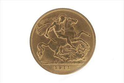 Lot 27-A GOLD HALF SOVEREIGN, 1911