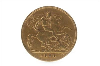 Lot 29-A GOLD HALF SOVEREIGN, 1906