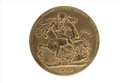 Lot 31-A GOLD SOVEREIGN, 1913