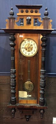 Lot 1162-AN EARLY 20TH CENTURY VIENNA WALL CLOCK