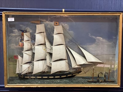 Lot 1325-AN EARLY 20TH CENTURY  MARITIME DIORAMA