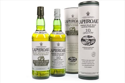 Lot 339-LAPHROAIG 10 YEARS OLD AND QUARTER CASK