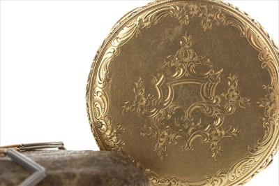 Lot 804 - A REPEATER POCKET WATCH AND CHAIN