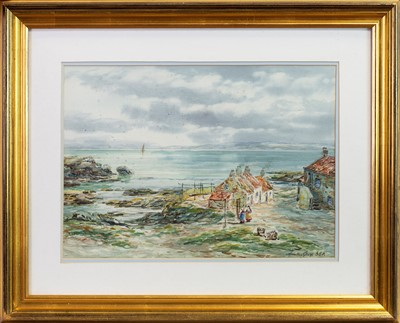 Lot 426 - ACROSS THE FIRTH OF FORTH FROM DYSART, A WATERCOLOUR BY JOHN HAMILTON GLASS