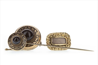 Lot 354 - TWO BROOCHES AND A PIN