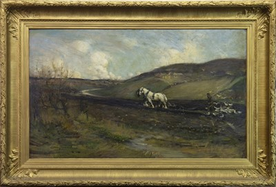 Lot 47-WHEN THE BOOKS ARE IN, AN OIL BY ALEXANDER COUTTS FRASER