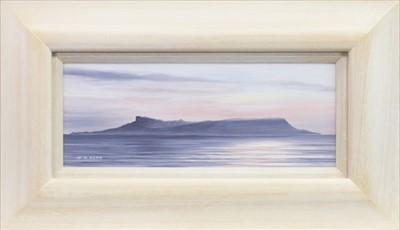 Lot 532-EIGG AT DUSK, AN OIL BY WILLIAM MCLEAN KERR
