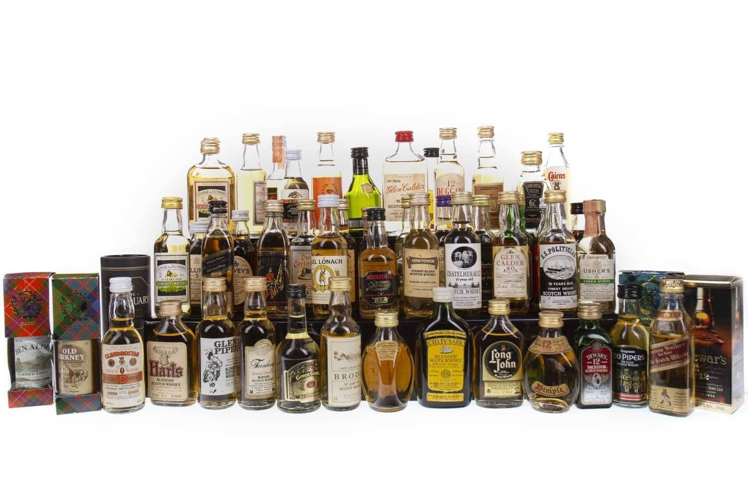 Lot 417-SIXTY-SEVEN BLENDED WHISKY MINIATURES