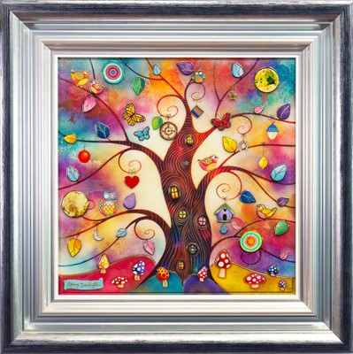 Lot 523-RAINBOW TREE, A LIMITED EDITION RESIN PRINT BY KERRY DARLINGTON