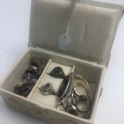 Lot 4-A LOT OF SILVER AND OTHER JEWELLERY