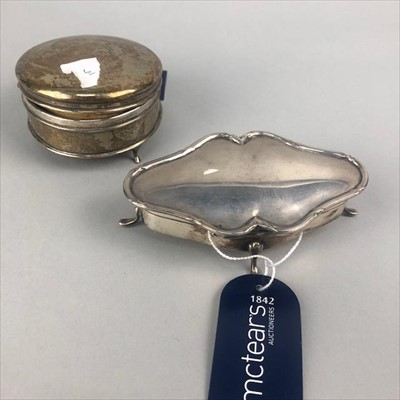 Lot 9-A LOT OF TWO SILVER TRINKET BOXES