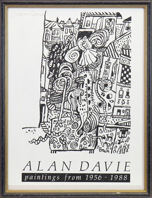 Lot 541-EXHIBITION POSTER, A LITHOGRAPH BY ALAN DAVIE