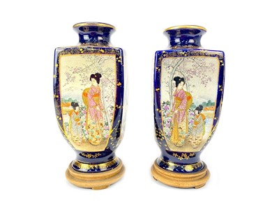 Lot 705-A PAIR OF EARLY 20TH CENTURY JAPANESE SATSUMA VASES