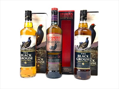Lot 419-TWO BOTTLES OF THE BLACK GROUSE AND ONE FAMOUS GROUSE SMOKEY BLACK