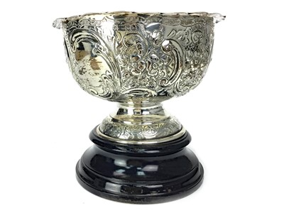 Lot 427-AN EMBOSSED EDWARDIAN SILVER BOWL