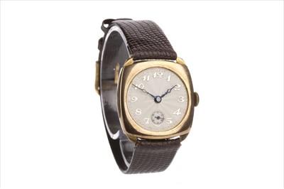 Lot 814-A 1930S GOLD CUSHION WATCH