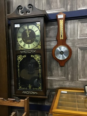 Lot 15-A  WALL CLOCK, OTHER CLOCKS AND A BAROMETER