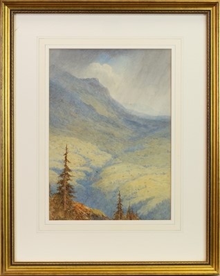 Lot 444-STORM ON THE SHEINDIGG GRINDEWALD, A WATERCOLOUR BY JOHN BATES NOEL