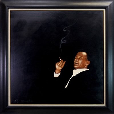 Lot 595-AFTER THE RECITAL, AN OIL BY BILL BLACKWOOD