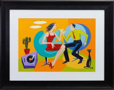 Lot 596-A LITTLE LESS CONVERSATION, AN OIL BY ELENA KOURNEKOVA