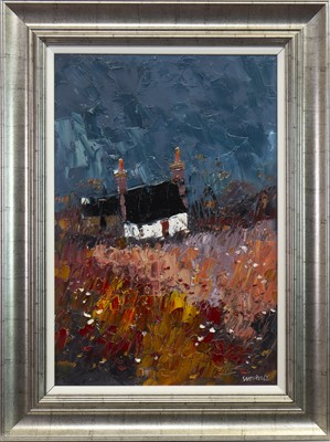 Lot 531-LANDSCAPE, AN OIL BY GEORGE SOMERVILLE