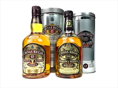Lot 427-TWO BOTTLES OF CHIVAS REGAL AGED 12 YEARS