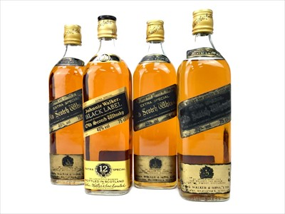 Lot 428-FOUR BOTTLES OF JOHNNIE WALKER BLACK LABEL