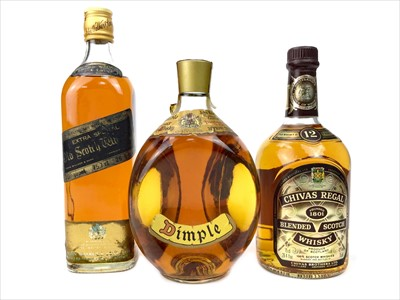 Lot 430-DIMPLE, CHIVAS REGAL 12 YEARS OLD AND JOHNNIE WALKER BLACK LABEL