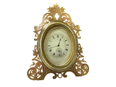 Lot 1155 - AN EARLY 20TH CENTURY STRUT CLOCK IN THE STYLE OF THOMAS COLE