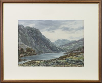 Lot 461-MEETING OF THE WATERS, NEAR KILLIN, A WATERCOLOUR BY JOHN HAMILTON GLASS