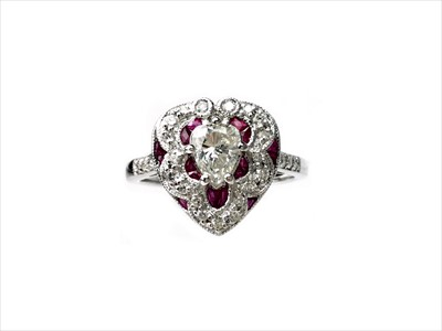 Lot 1340-A RUBY AND DIAMOND RING