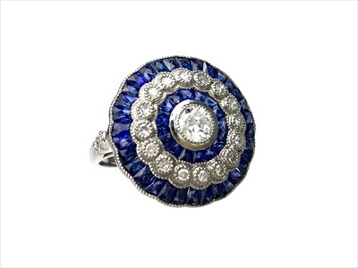 Lot 1342-A SAPPHIRE AND DIAMOND RING