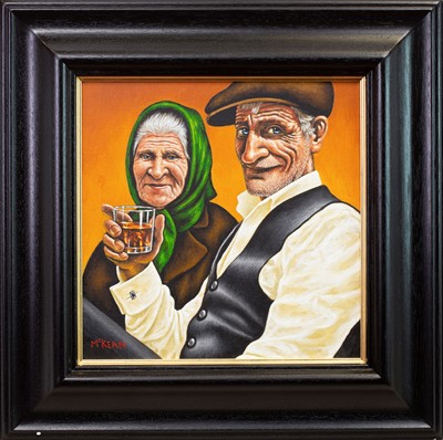 Lot 580-THE BETTER HALF OF ME, AN OIL BY GRAHAM MCEAN
