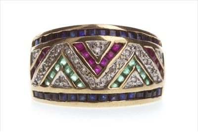 Lot 825-A DIAMOND AND GEM SET RING